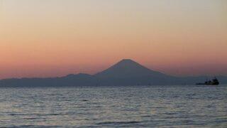 夕焼のきれいな館山の海