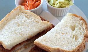 花ざかりのフラワーラインとカツサンドランチとカキフライ食べ比べ