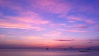 館山の夕日